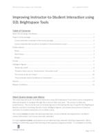 Improving Instructor-to-Student Interaction Guide